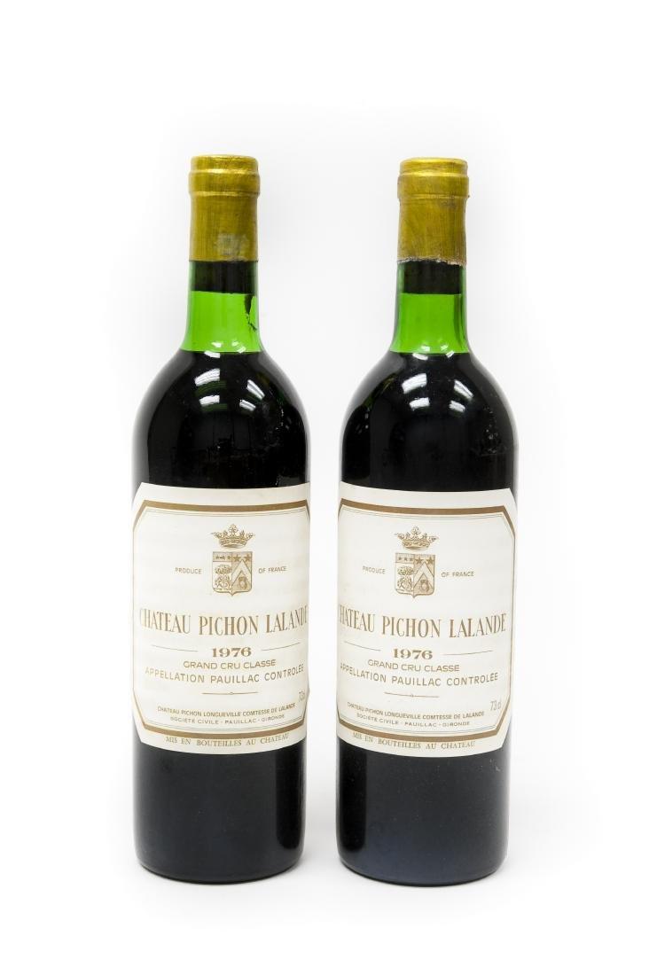 (2) Bottles Of 1976 Chateau Pichon Lalande.