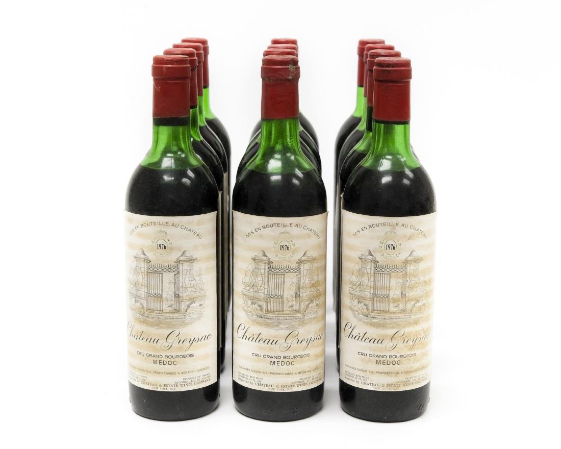 (12) Bottles Of 1976 Chateau Greysac Medoc.