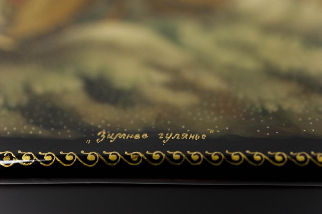 Kamanina Palekh Russian Lacquer Box. - 6