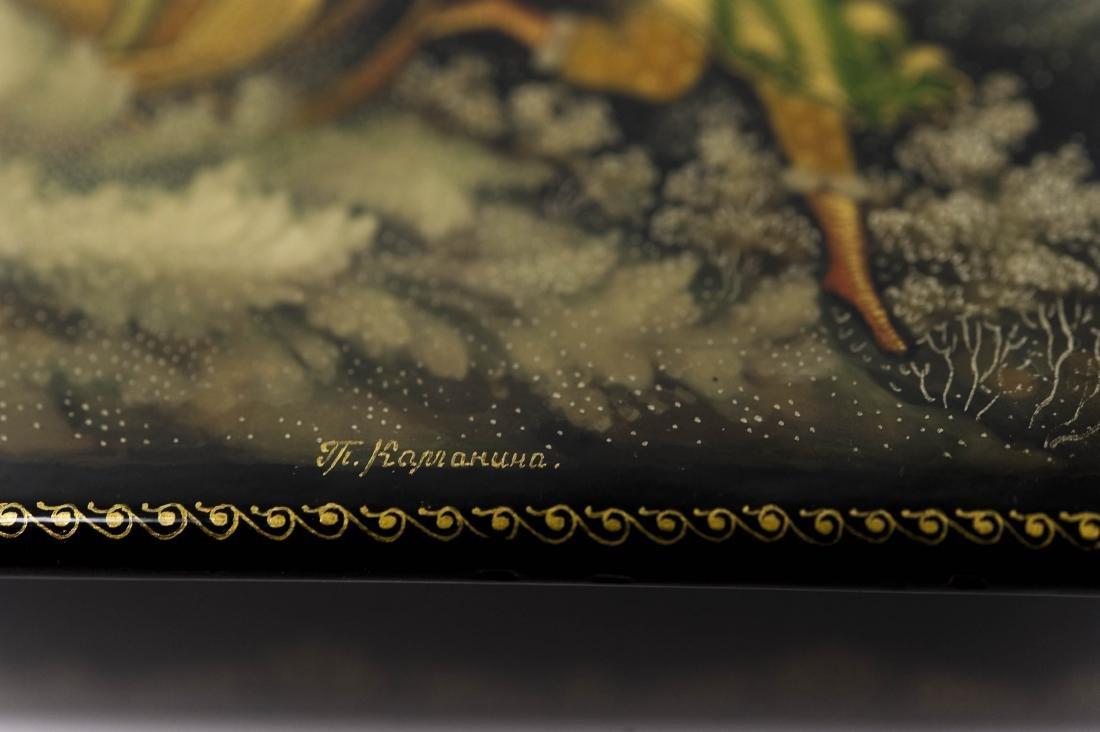 Kamanina Palekh Russian Lacquer Box. - 7