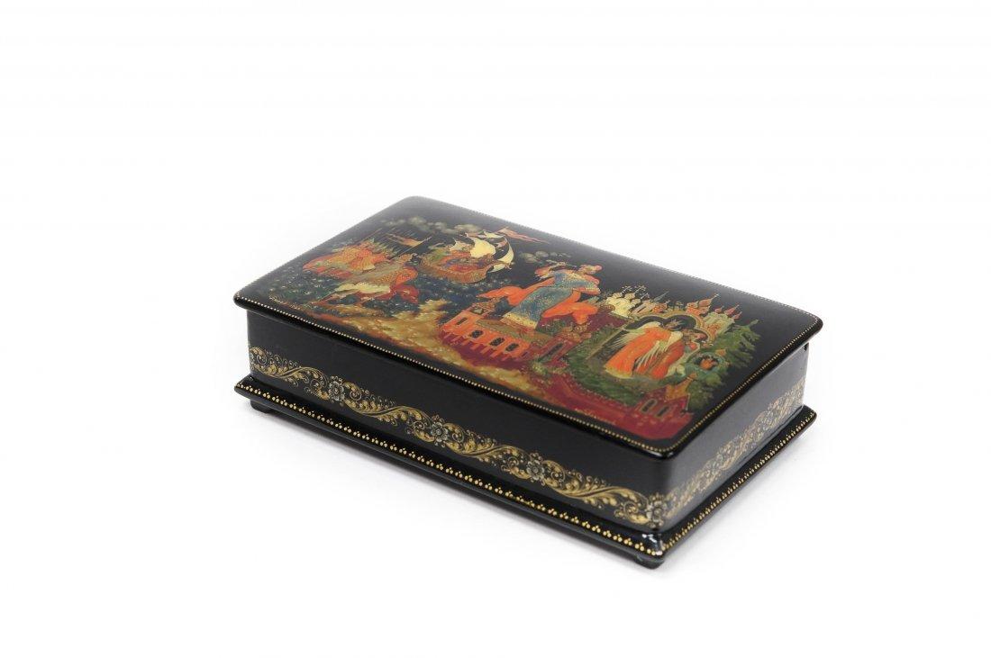 Plekhanov Palekh Russian Lacquer Box.