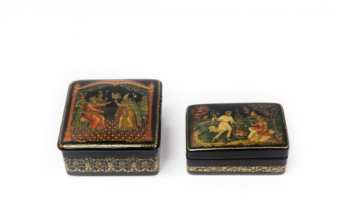 Molkova & Molkov Palekh Russian Lacquer Boxes.