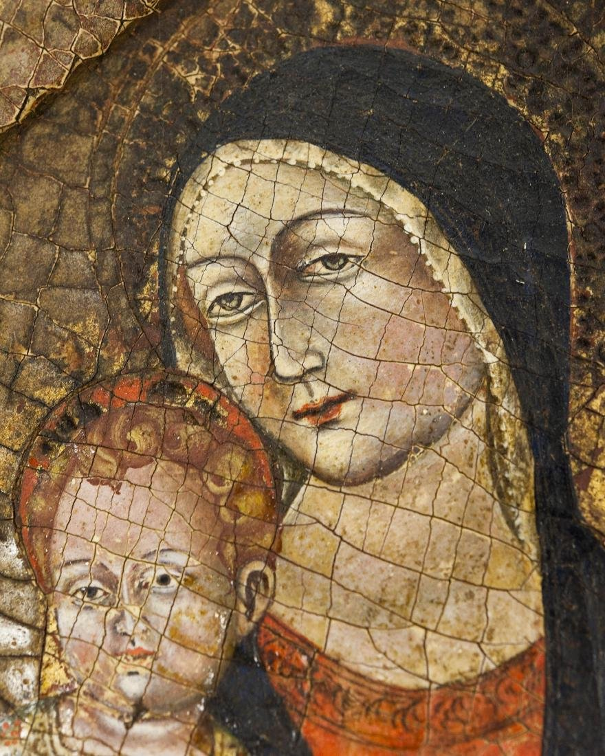 Early 20th C. Russian Iconic Panel, Madonna & Child. - 2