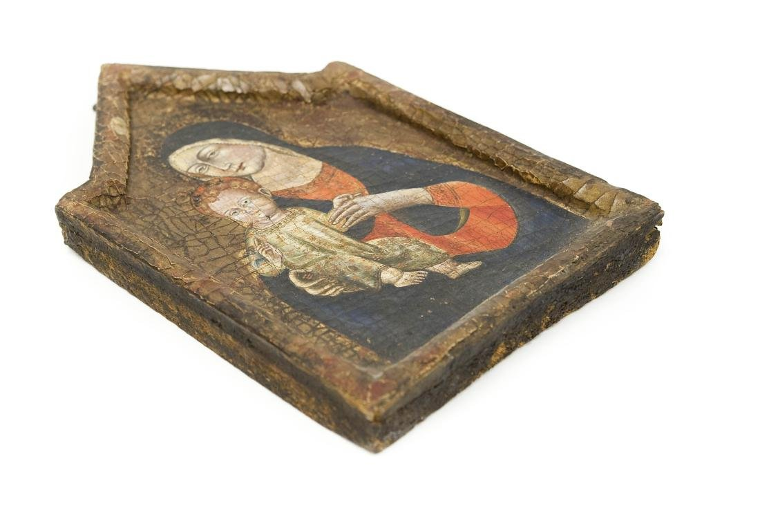 Early 20th C. Russian Iconic Panel, Madonna & Child. - 4