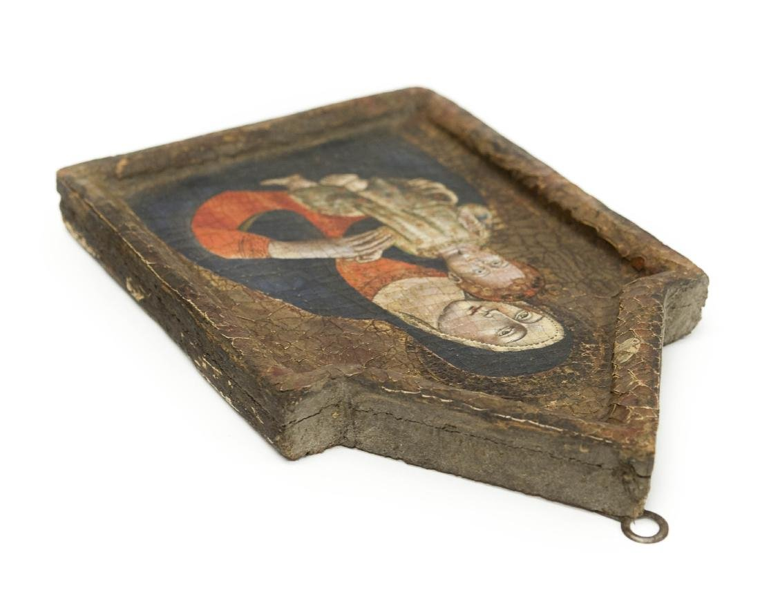 Early 20th C. Russian Iconic Panel, Madonna & Child. - 5