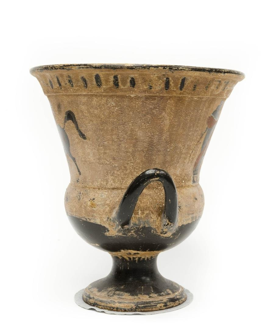 Etruscan Style 2-handled Pottery Vessel. - 2
