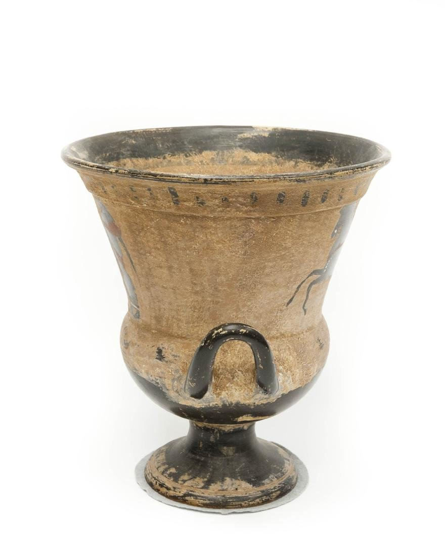 Etruscan Style 2-handled Pottery Vessel. - 4