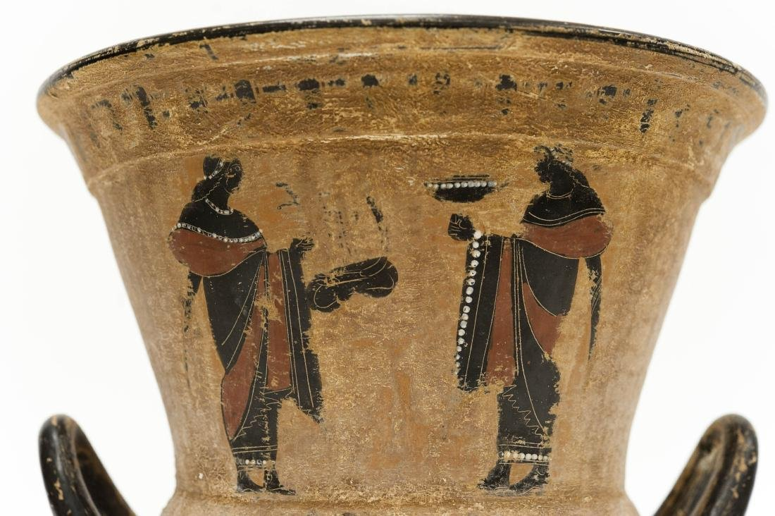 Etruscan Style 2-handled Pottery Vessel. - 6