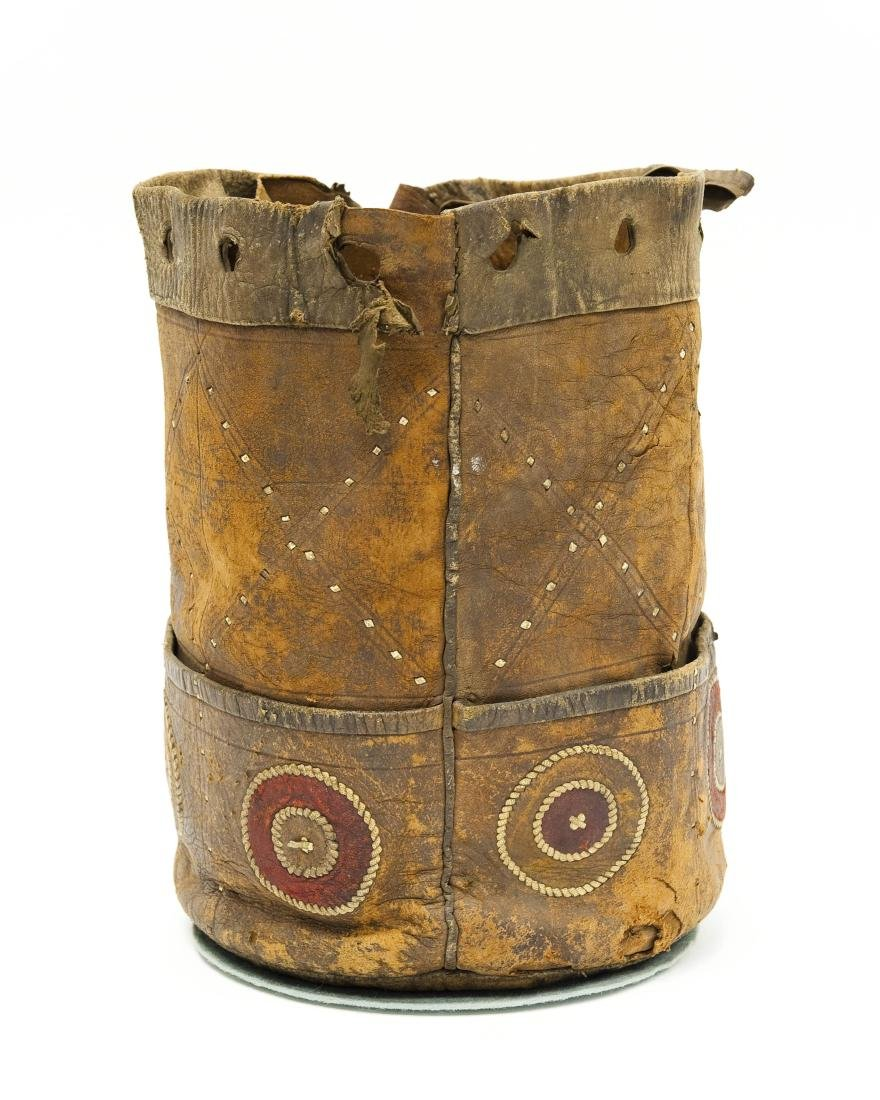 Native American Leather Quiver / Bag. - 4