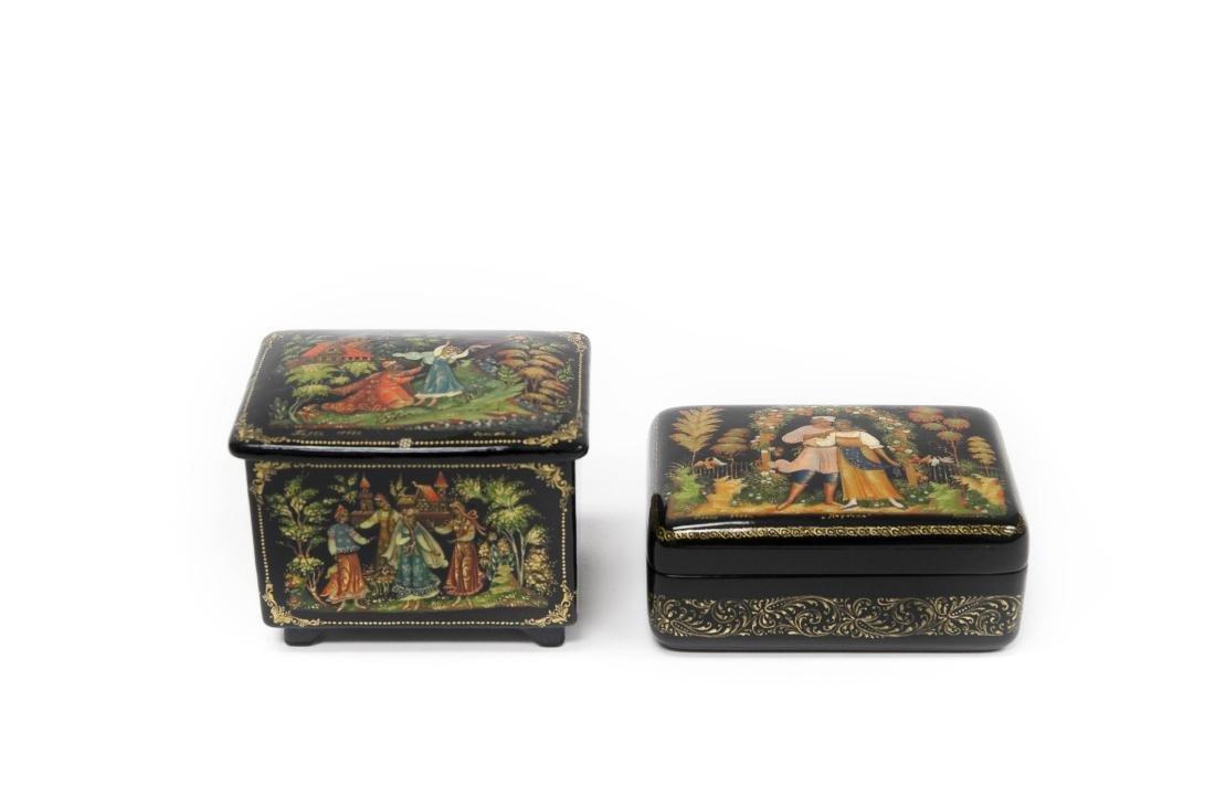 Sonina & Kaligina Palekh Russian Lacquer Boxes.