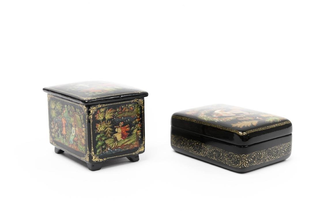 Sonina & Kaligina Palekh Russian Lacquer Boxes. - 2