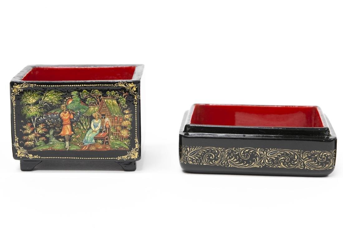 Sonina & Kaligina Palekh Russian Lacquer Boxes. - 3
