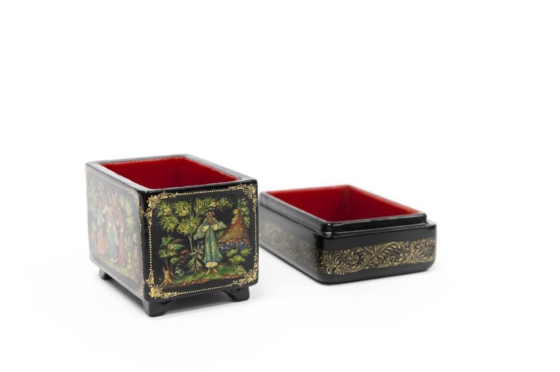 Sonina & Kaligina Palekh Russian Lacquer Boxes. - 4