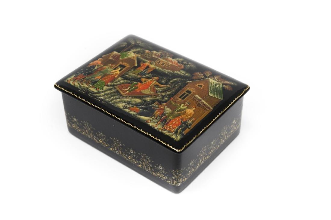 Palekh Russian Lacquer Box.