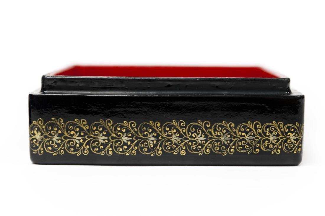 Konovolova Palekh Russian Lacquer Box. - 4