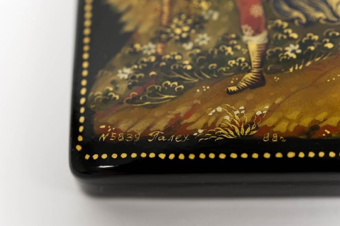 Konovolova Palekh Russian Lacquer Box. - 6