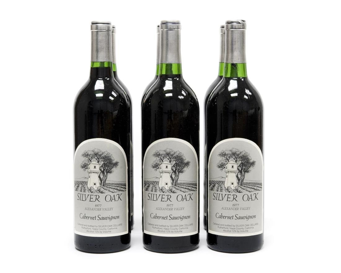 (6) Bottles, 1977 Silver Oak Cabernet.
