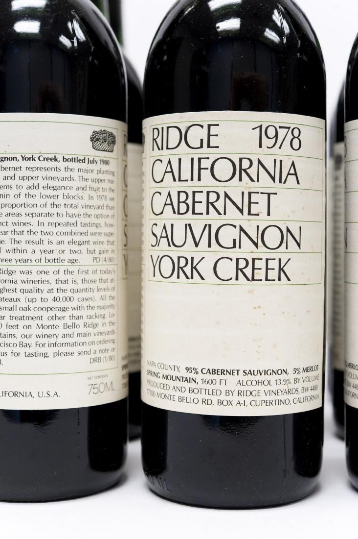 (12) Bottles, Ridge 1978 York Creek Cabernet. - 2