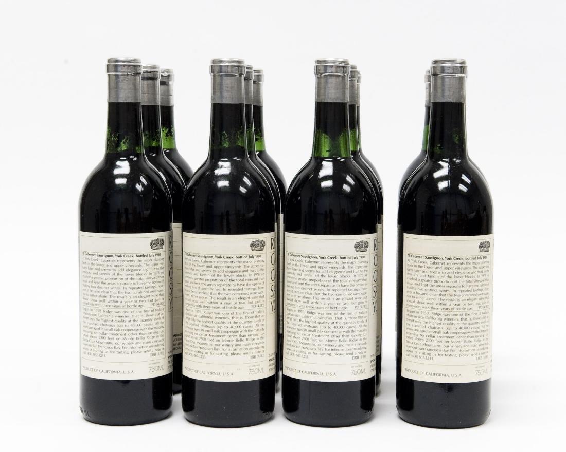 (12) Bottles, Ridge 1978 York Creek Cabernet. - 4