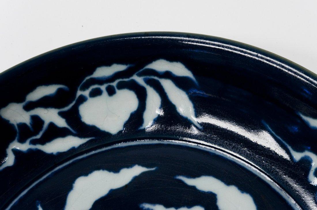 Chinese Blue & White Large Ceramic Bowl. - 10