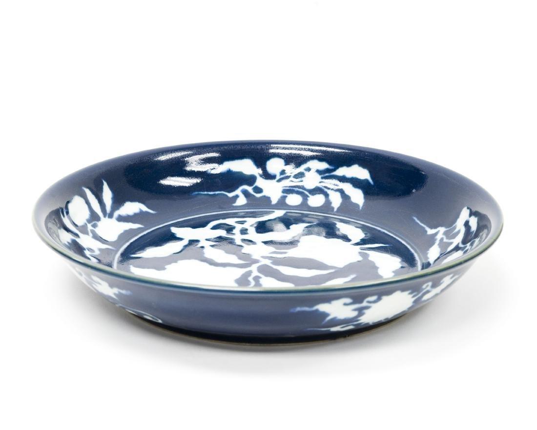 Chinese Blue & White Large Ceramic Bowl. - 2