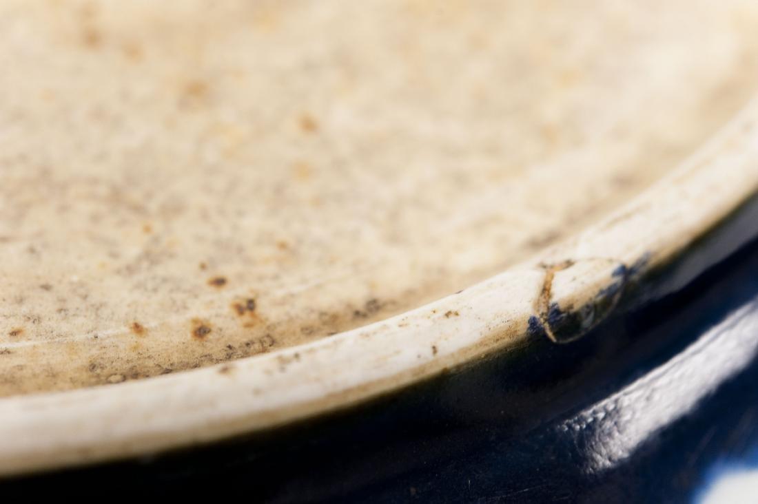 Chinese Blue & White Large Ceramic Bowl. - 6