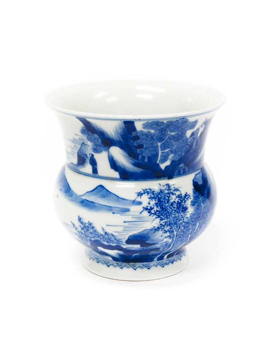 Chinese Blue & White Porcelain Vase.