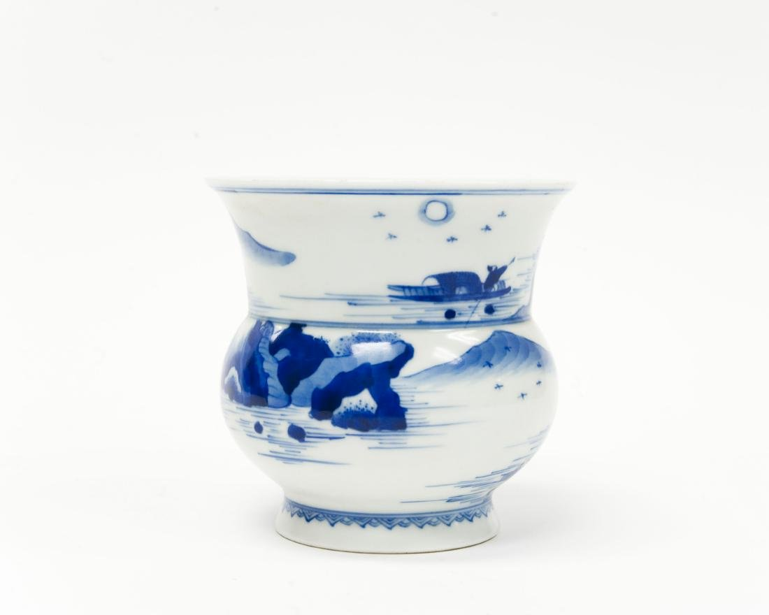 Chinese Blue & White Porcelain Vase. - 2