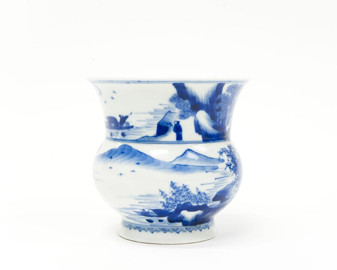 Chinese Blue & White Porcelain Vase. - 3