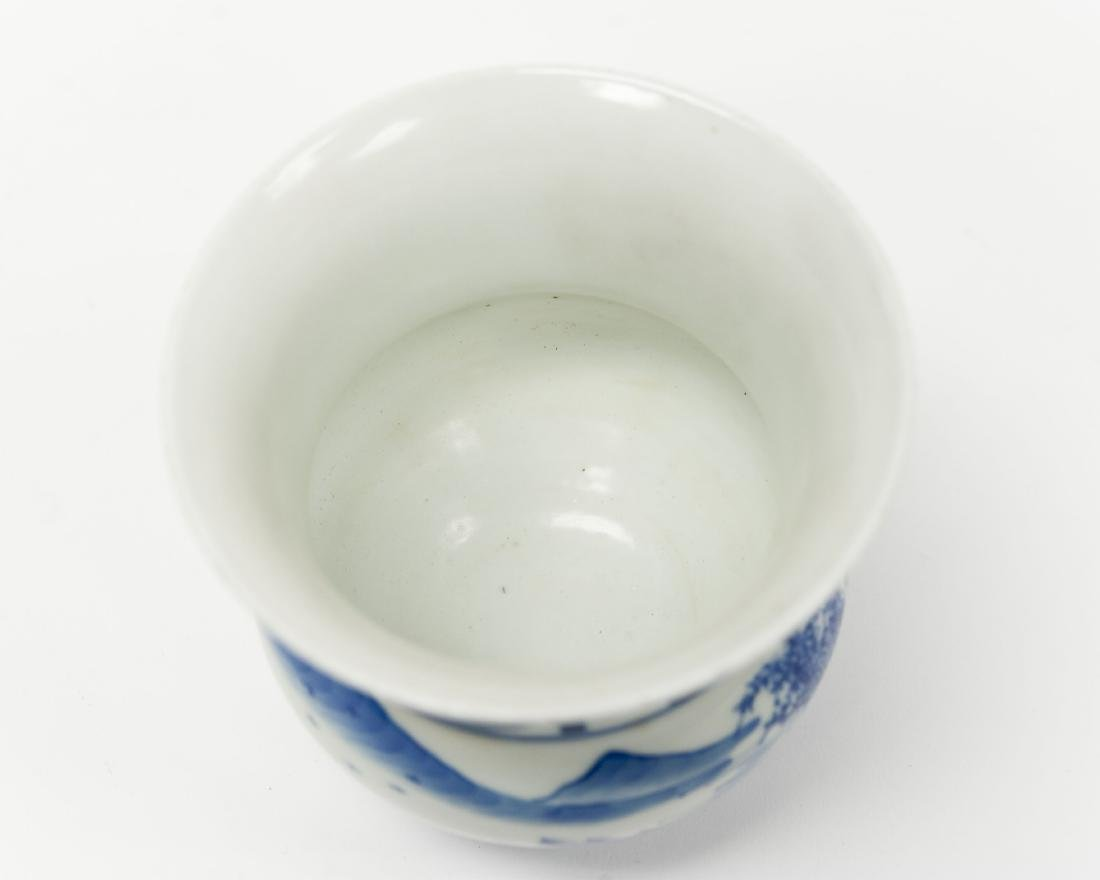 Chinese Blue & White Porcelain Vase. - 4
