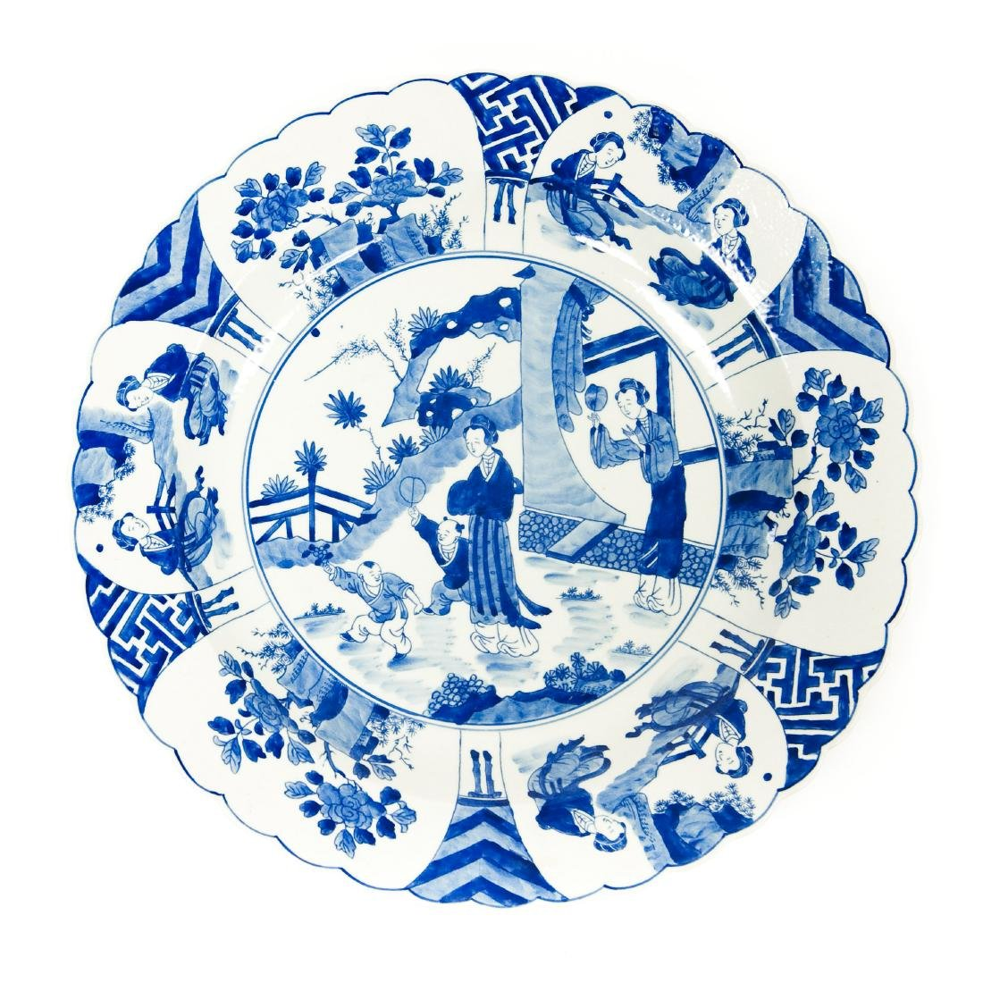 Chinese Blue & White Porcelain Charger.
