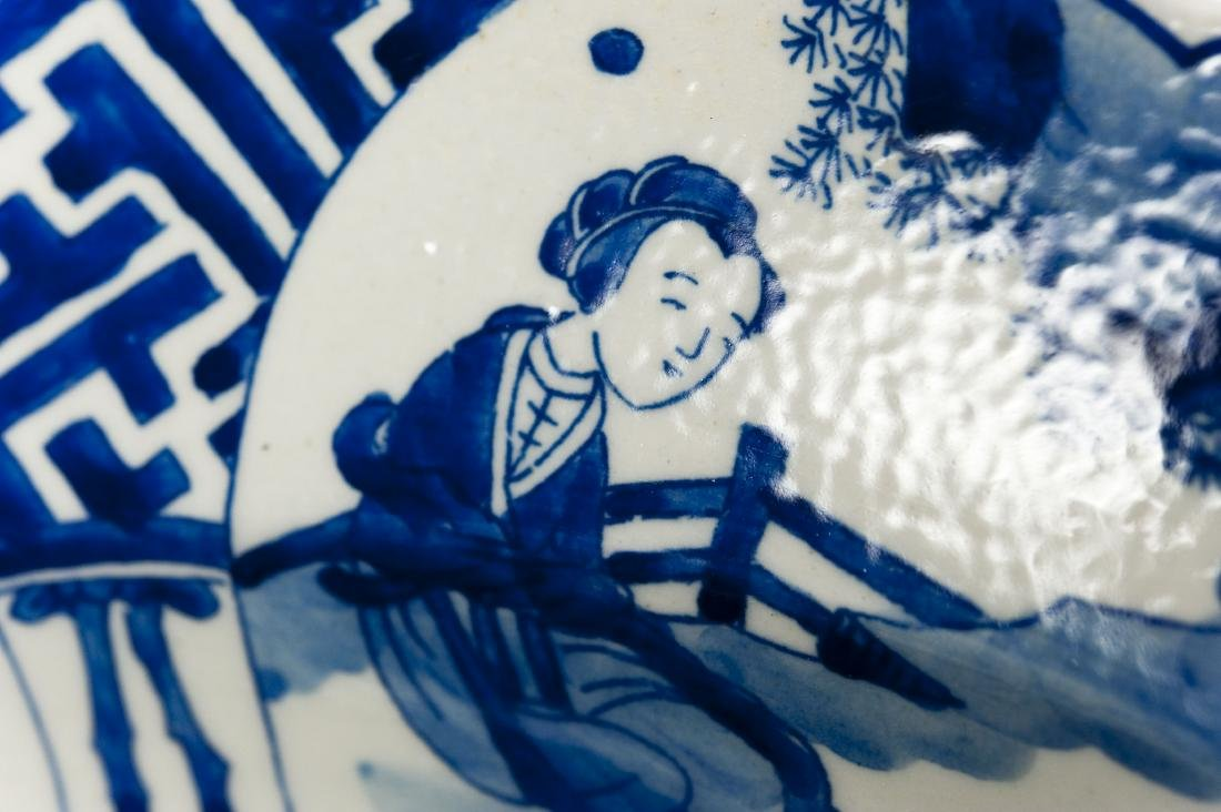 Chinese Blue & White Porcelain Charger. - 5