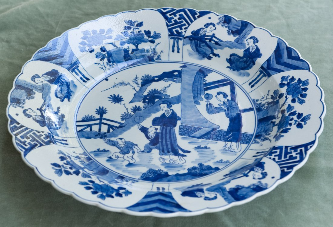 Chinese Blue & White Porcelain Charger. - 7