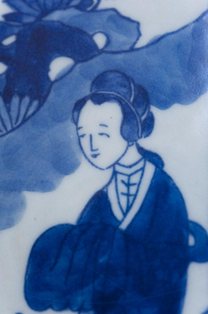 Chinese Blue & White Porcelain Charger. - 8