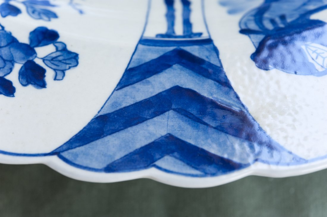 Chinese Blue & White Porcelain Charger. - 9