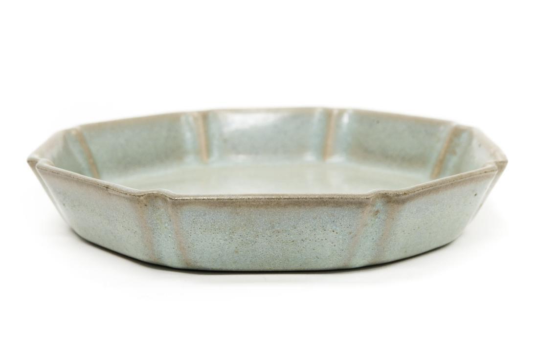 Chinese Glaze Porcelain Dish.