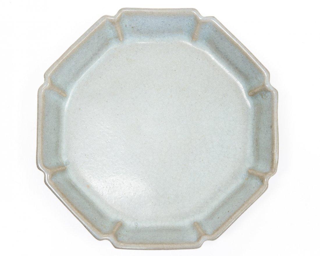 Chinese Glaze Porcelain Dish. - 6