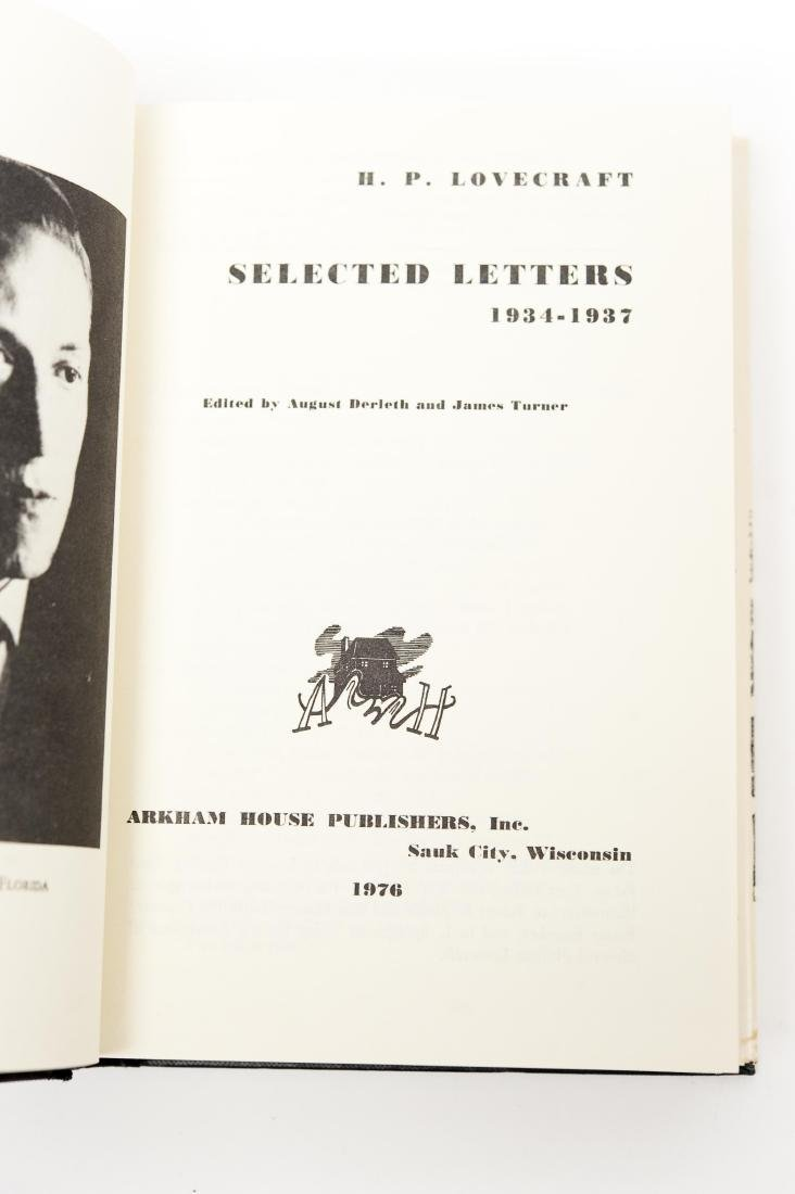 (5) Volumes, The Selected Letters by H. P. Lovecraft. - 5