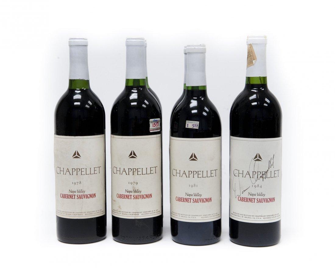 (6) Bottles, Chappellet Cabernet Sauvignon.