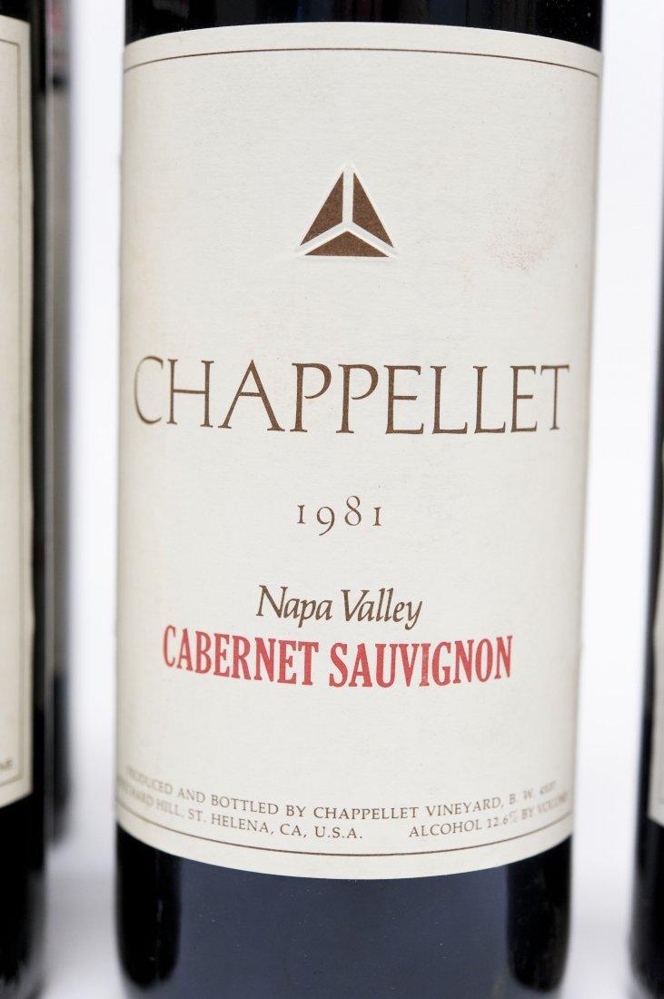 (6) Bottles, Chappellet Cabernet Sauvignon. - 4