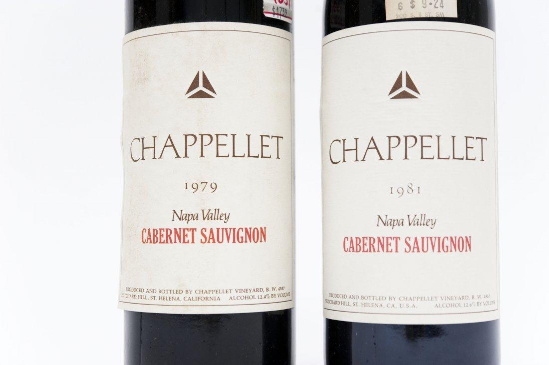 (6) Bottles, Chappellet Cabernet Sauvignon. - 9