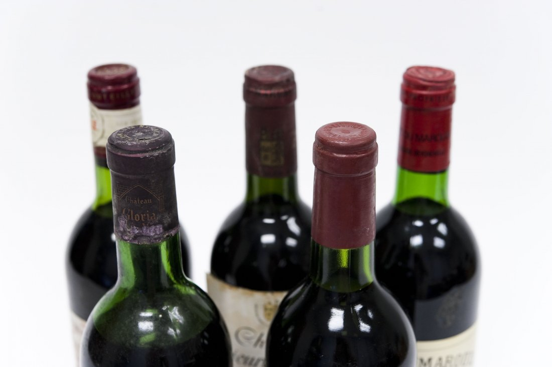 (5) Bottles, Assorted Bordeaux Red Wines. - 7