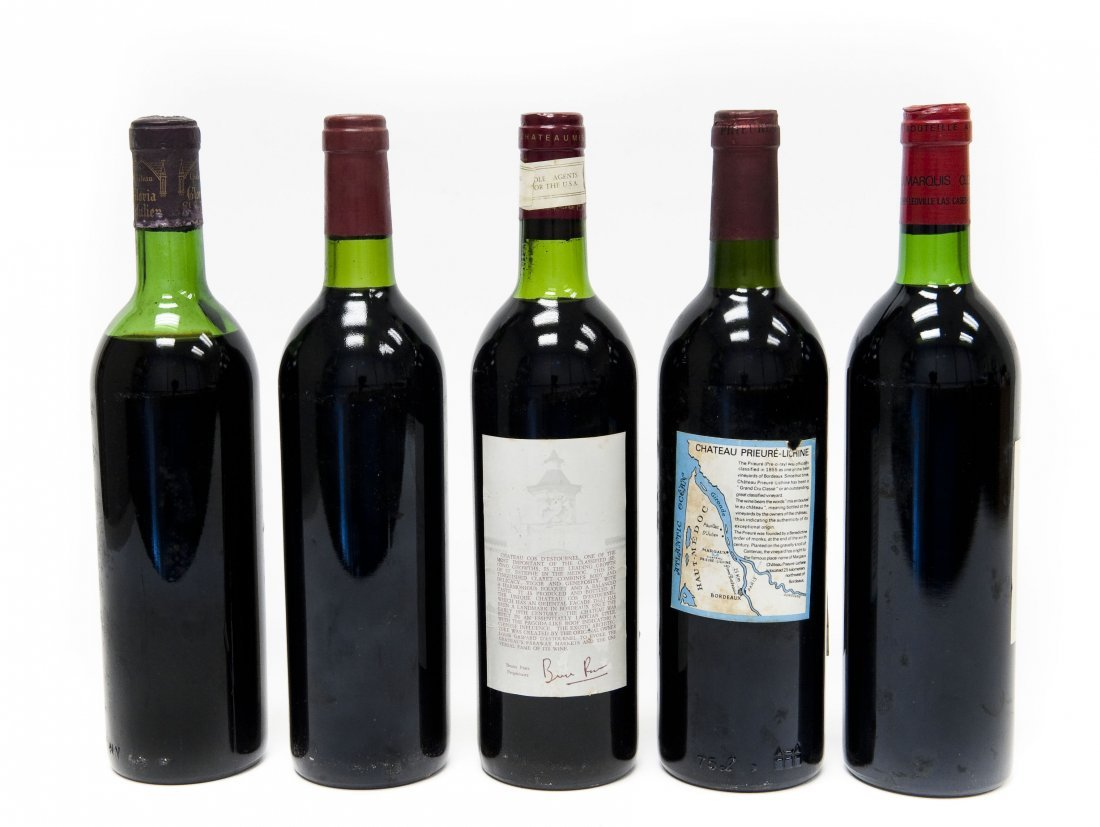 (5) Bottles, Assorted Bordeaux Red Wines. - 8
