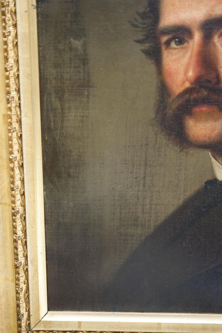 19th C. Oil on Canvas, Portrait of a Gentleman. - 7