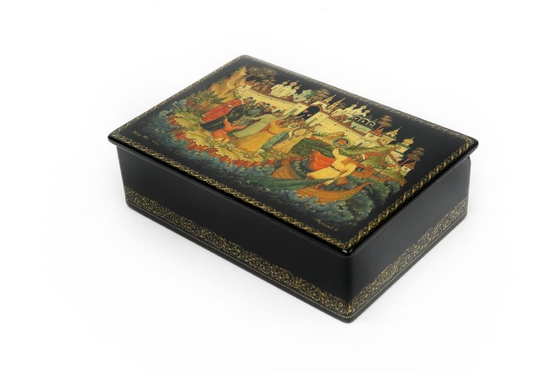 Palekh Russian Lacquer Box.