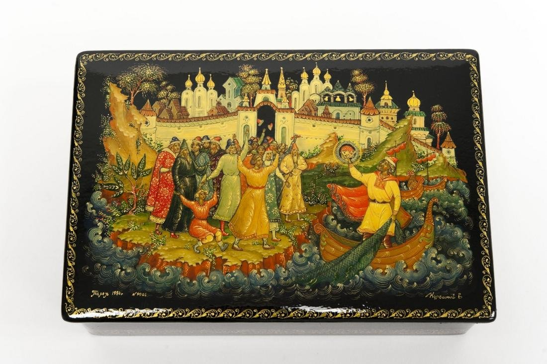 Palekh Russian Lacquer Box. - 2