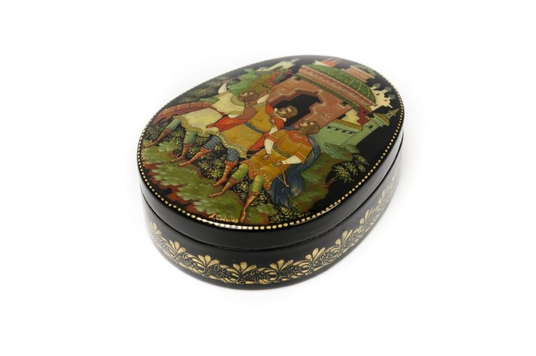 Sokolov Palekh Russian Lacquer Box.