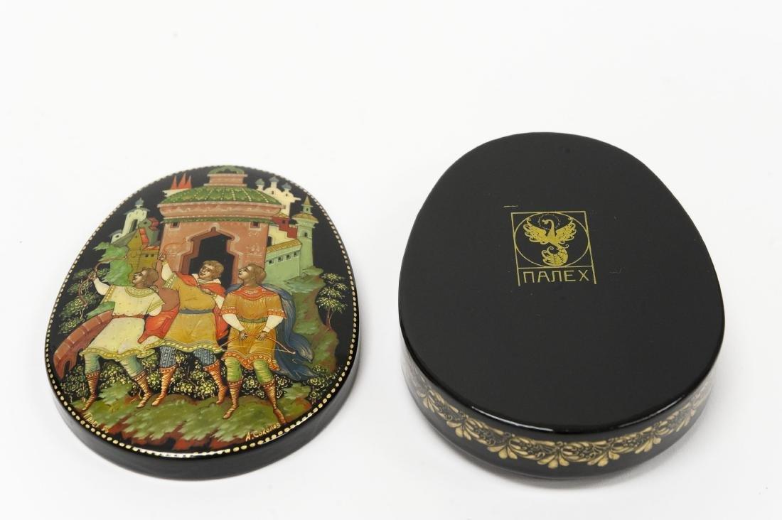 Sokolov Palekh Russian Lacquer Box. - 3