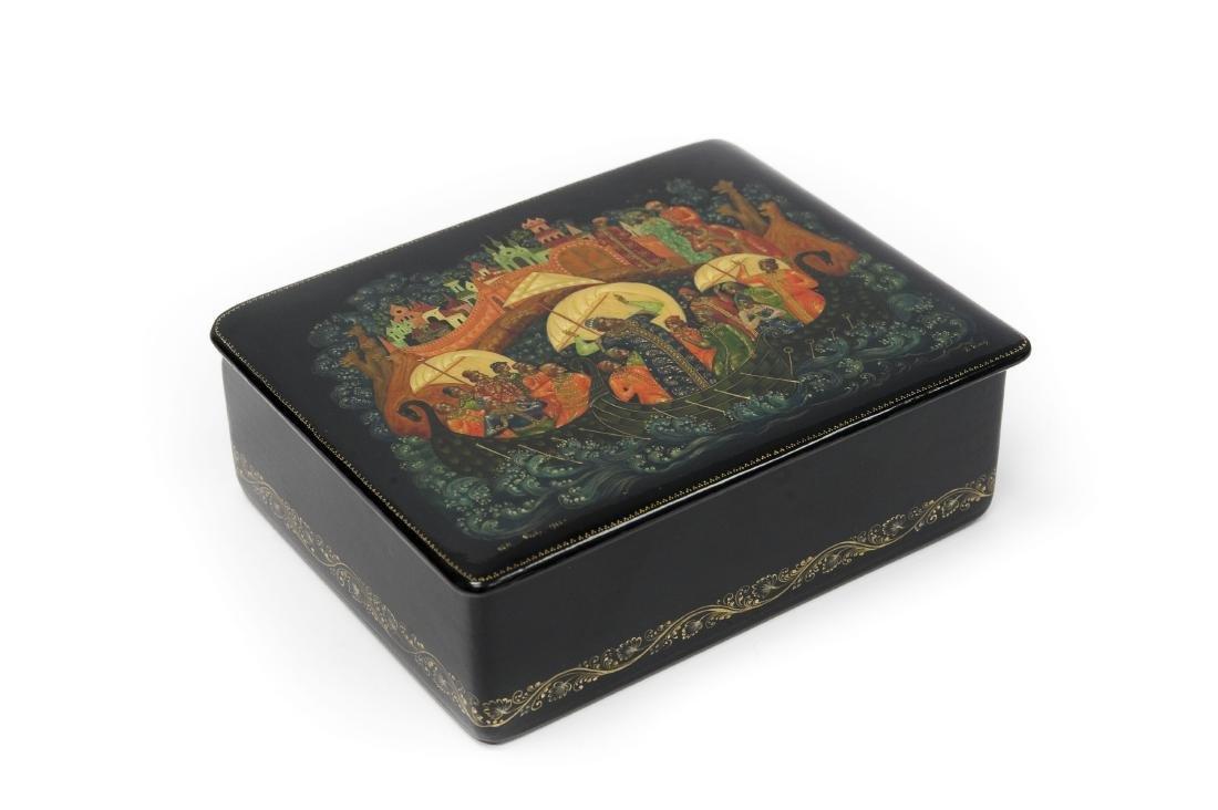 Lutov Palekh Russian Lacquer Box.
