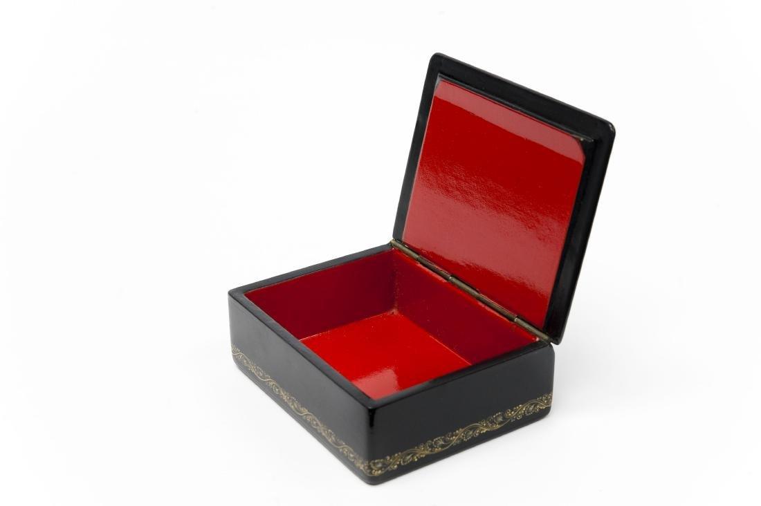 Lutov Palekh Russian Lacquer Box. - 2